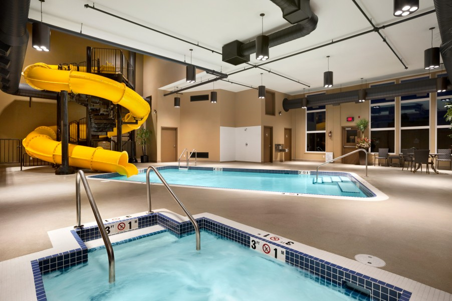 Of Your Time At The Lloydminster Microtel Inn Suites By Wyndham Taking Advantage Our Fitness Centre Hot Tub Heated Indoor Pool And Waterslide